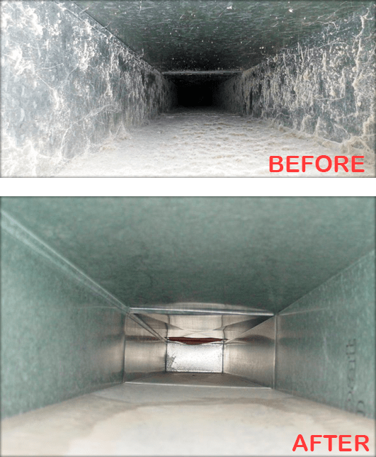 Before And After Duct Cleaning Service Near me